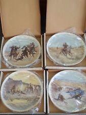 "4 Gorham  Frederic Remington Fine China Plates 12 1/2"""