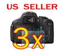 3x Canon EOS 600D Rebel T3i Camera LCD Screen Protector Guard Shield Film