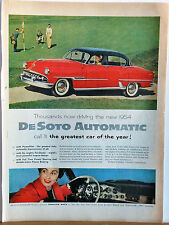 1954 magazine ad for DeSoto - Automatic - Greatest car of the Year!  Red DeSoto
