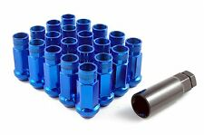 GT50 STEEL Open Wheel Nuts - Blue - M12 x 1.5 Toyota Honda Mitsubishi