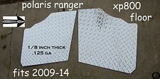 POLARIS RANGER XP800 FULLSIDE 1/8 thick  DIAMOND PLATE FLOOR BOARDS 2009-14