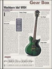 The Washburn Idol WI64 electric guitar 8 x 11 sound check gear box review