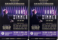 3 X HANS ZIMMER 2016 TOUR FLYERS - THE LION KING PIRATES OF THE CARRIBEAN