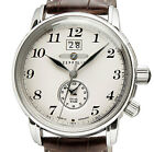 ZEPPELIN 7644-5 GRAF ZEPPELIN BEIGE DIAL STEEL 42 MM DUAL-TIME BIG-DATE NEW