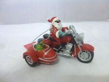 Santa Born to Be Jolly and Turtle Biker Christmas Holiday Ornament New