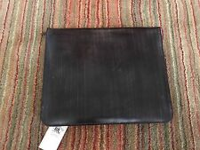 RALPH LAUREN RRL GRIP PORTFOLIO DOCUMENT HOLDER BROWN BRIDLE LEATHER
