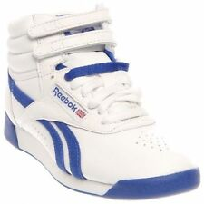 Reebok Classic Freestyle Hi White/Royal Womens Size 7, Mens Size 6 NIB