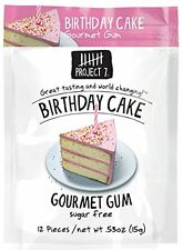 6 Packs Project 7 BIRTHDAY CAKE Gourmet Gum FAVORITE FLAVOR Free Shipping