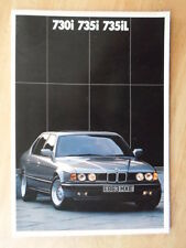 BMW 7 SERIES orig 1987 1988 UK Mkt Prestige Sales Brochure - 730i 735i 735iL