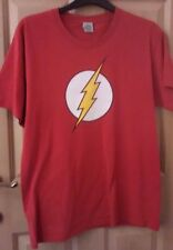Men's Size Large (L) Red Flash T-Shirt DC Comics Original