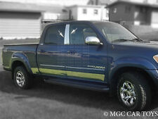 """2000-2006 Toyota Tundra Double Cab Stainless Steel  Rocker Panel  Fl 6"""" 10pc"""