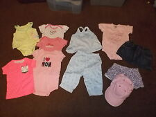 Lot of 11 baby girl clothes size 6 months