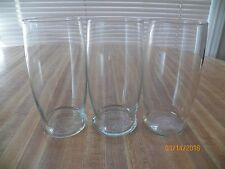 Set of 3 Drinking Glasses...16 oz....used.....no brand name
