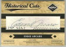 EDDIE ARCARO 2011 Panini Limited Baseball HISTORICAL CUT SIGNATURE CARD 1/1 AUTO