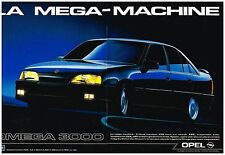 Publicité Advertising 1987 (2 pages) Opel Omega 3000