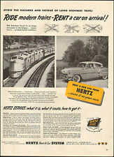 1953 Vintage ad for Hertz Rent-A-Car System`retro Car Train Photo  (092116)