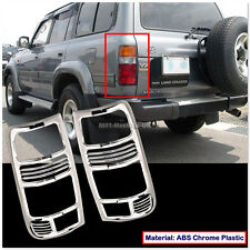 [8063 AU] for Toyota Land Cruiser FJ80 80Series Chrome Tail Light Trim Rear Lamp