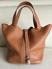 "Hermes Picotin Lock GM 26cm Large 10""x10""x8.5"" Gold (tan/brown) Tote Bag"