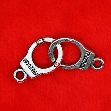 5 x Tibetan Silver Handcuff Freedom Charm Pendant 50 Shades of Grey Beads Making