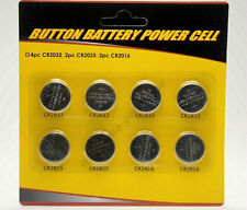 8 Assorted BUTTON BATTERY Cell Lithium Coin CR2032 CR2025 CR2016 Batteries EL20