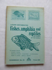 FISHES AMPHIBIA & REPTILES ON STAMPS - ATA HANDBOOK 91 1977, VGC