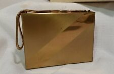 House of Westmore Gold Purse Double Compact Mirror Powder Cigarette Case