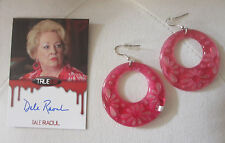 TRUE BLOOD MAXINE EARINGS & AUTOGRAPH CARD Screen Used Produciton Worn Wardrobe
