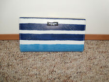 NWT Kate Spade Grant Street Stacy Capri Stripe Grainy Vinyl Wallet NEW