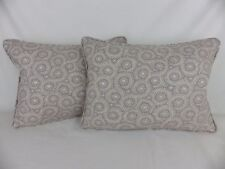 GP & J Baker Lifestyle Foxy Grey Opal Leaf Lumbar Scatter Pillow Cushion & Pads