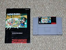 Super Mario All-Stars Super Nintendo SNES Cartridge & Manual