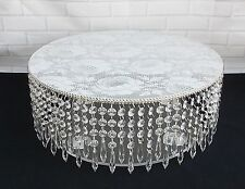 STUNNING TALL 16 inch  CLEAR ACRYLIC CRYSTAL WEDDING CAKE STAND