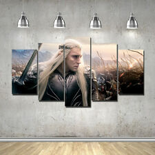 5 Piece The Hobbit Movie Thranduil Poster Canvas Printing with Frame