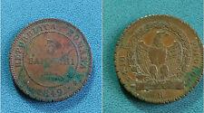 Repubblica Romana -3 Baiocchi -Anno 1849 (RARA)