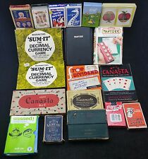 Job Lot Of Packs Of Vintage Playing Cards & Card Games, Yahtzee, Sussed, Sum-It