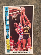 Washington Bullets Mike Riordan signed 1976 Topps Card