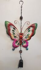 COLOURFUL BUTTERFLY METAL WIND BELL CHIME DECOR HOME GARDEN DECOR  GIFT IDEA