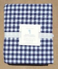 POTTERY BARN ~ NAVY SULLIVAN BUFFALO CHECK GINGHAM FLANNEL SHEET SET ~ TWIN