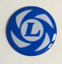 50mm MINI LEYLAND RESIN DOMED 3D  - WHEEL CAP STICKER BADGE SLOT MAGS