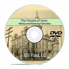 Iowa IA People & Civil War Family History and Genealogy 148 Books DVD CD B38