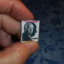 Dollhouse Miniature book ALFRED HITCHCOCK QUOTES!  36 Pages! Get to know him!!!