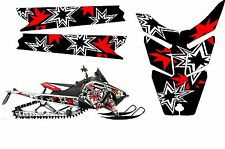 POLARIS RUSH PRO RMK  ASSAULT 120 155 163 BLACK STAR HOOD TUNNEL DECAL STICKER 1