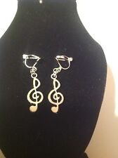 Music note ... clip on earrings