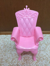 Barbie Doll House Swan Lake Castle Princess Prince Pink Throne Chair Furniture