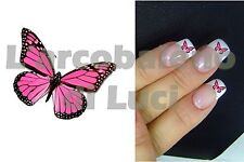 20 AUTOCOLLANTS POUR ONGLES PAPILLON ROSE NAILS ART STICKERS PINK BUTTERFLY