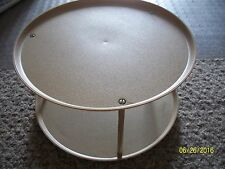 Vintage LOMA 2-Tiered Lazy Susan Turntable Spice Rack Cabinet Space Saver