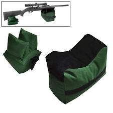 Outdoor Hunting Shooting Bag Set Rifle Gun Rest Range Gear Front Rear Bags Green