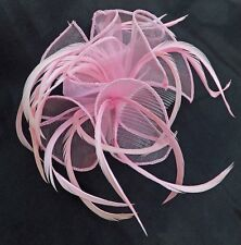 FEATHER AND CHIFFON HAIR FASCINATOR - VARIOUS COLOURS