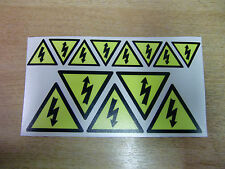 SAFETY LABELS - ELECTRICAL hazard symbol - decals/stickers x13