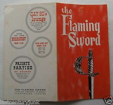 Restaurant Menu For The Flaming Sword  Restaurant Clearwater, Florida 1967