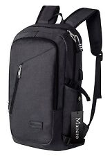 Anti Theft Business Laptop Backpack with USB Charging Port by Mancro Grey